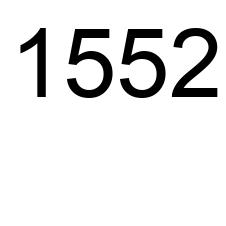 1552 number, the encyclopedia of numbers - Number.academy