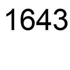 1643 number, the encyclopedia of numbers - Number.academy